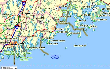 Map Of Maine Coastline Towns.Coastal Maine Maps Maine Maps And Chamber Of Commerce Information